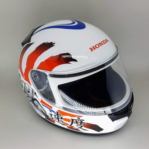 capacete honda fechado hfs moto japan branco
