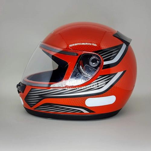 capacete honda fechado hfs wing vermelho e prata