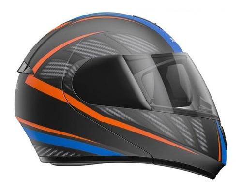capacete honda original hms 60 escamoteável preto/azul