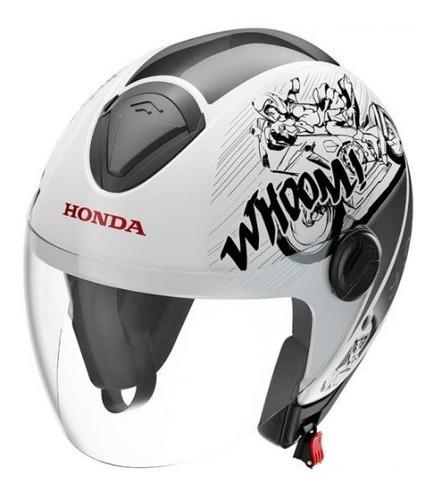 capacete honda original hnj 58 mangá bco/cinza