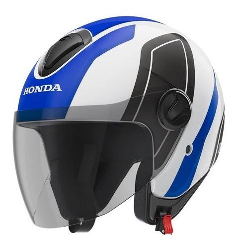 capacete honda original hnj 60 azul/branco