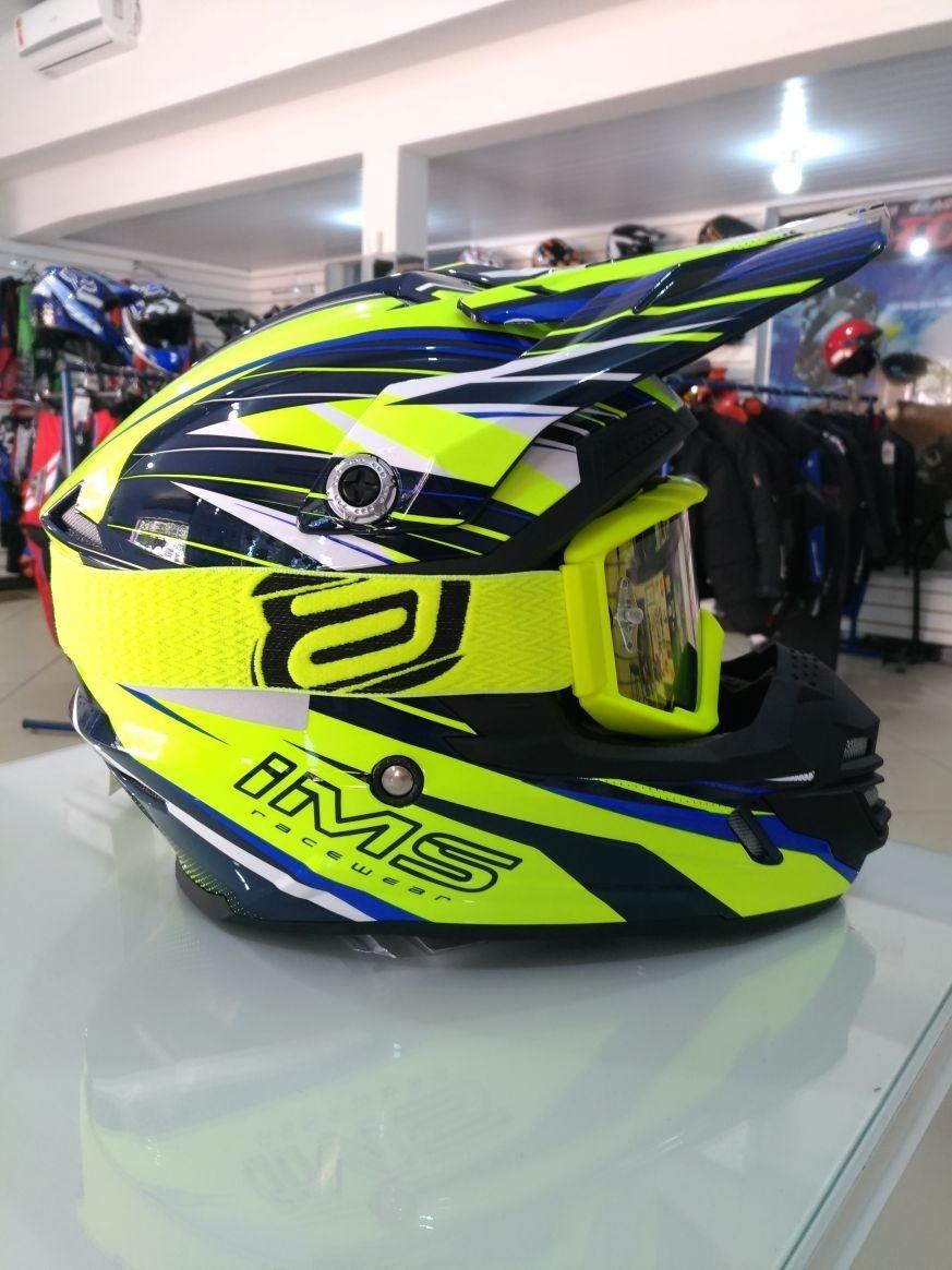 06319a4a38071 capacete ims +óculos asw espelhado-promoção-motocross trilha. Carregando  zoom.