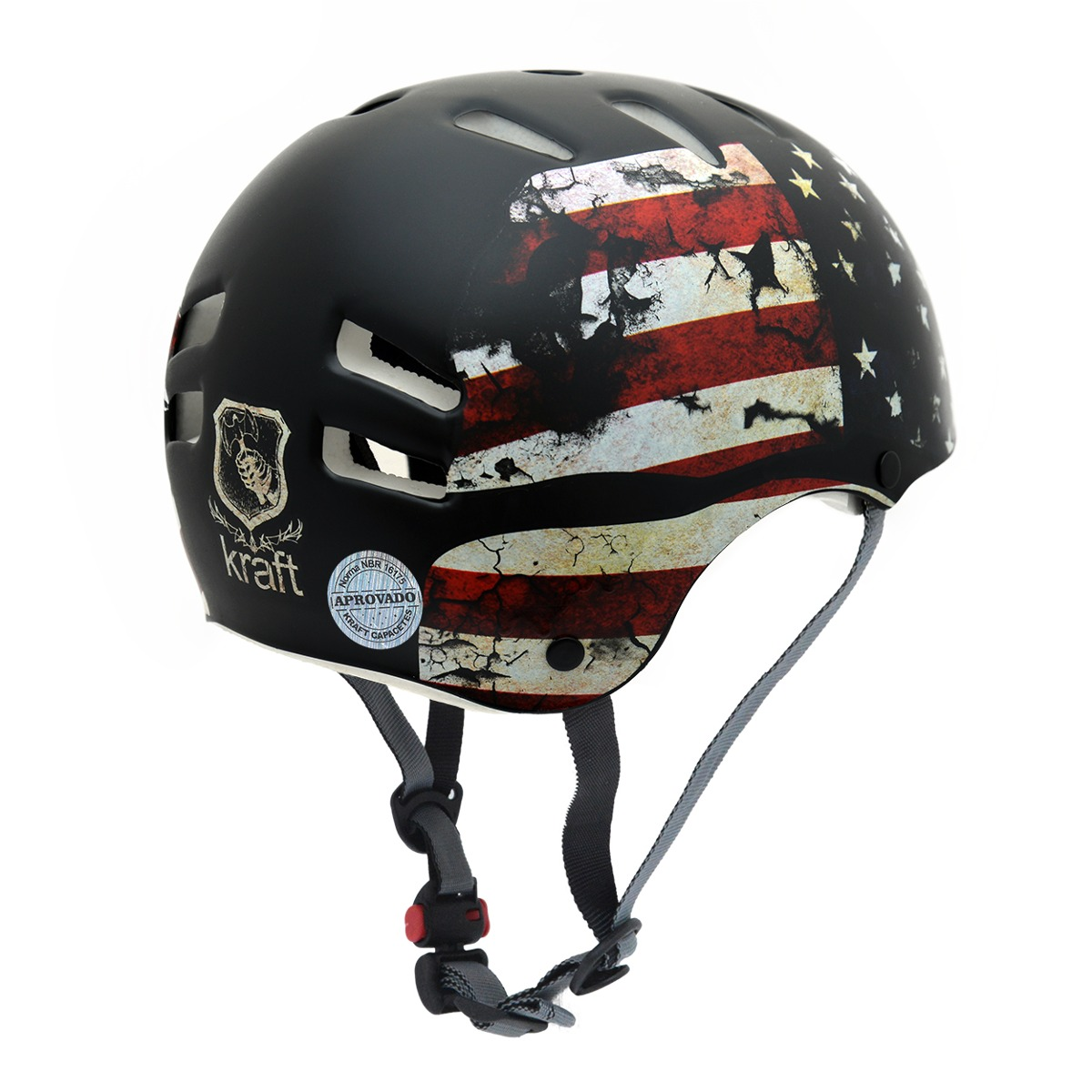 8bbc322c7 capacete infantil kraft bike usa pp skate patins nbr16175. Carregando zoom.