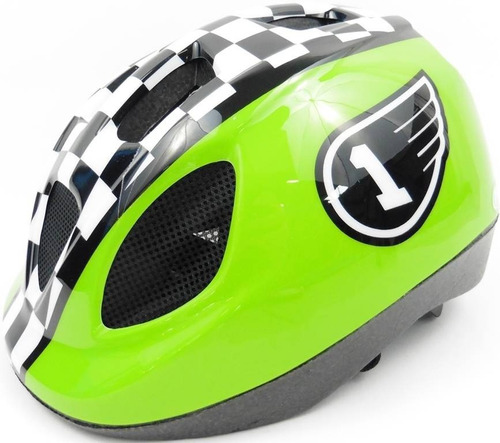 capacete infantil menino polisport bicicleta verde regulagem