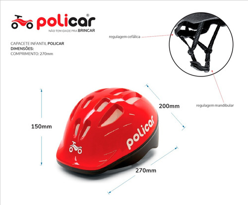 capacete infantil - policar® 7317