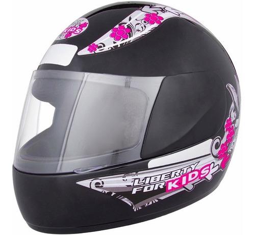 capacete infantil pro tork liberty four kids for girls preto