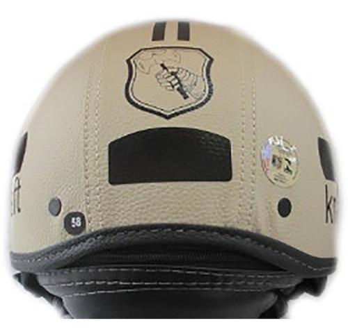 capacete kraft plus couro custom harley boulevard shadow