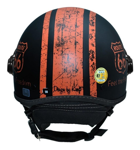 capacete kraft plus historic 66 m 57 -harley custom