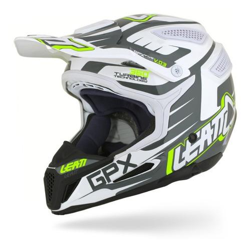 capacete leatt gpx 5.5 - preto, branco e verde