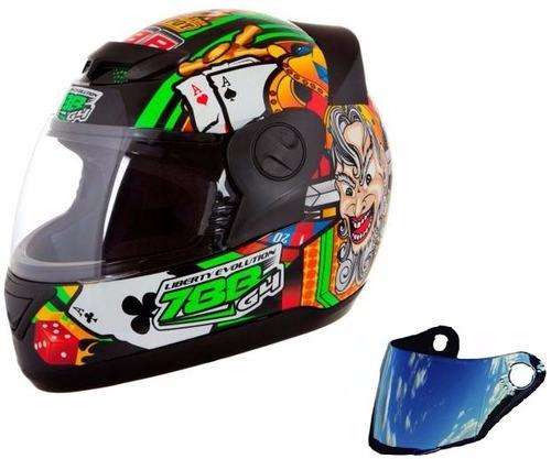 capacete liberty evolution las vegas + viseira