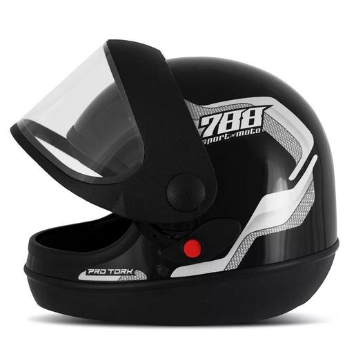 capacete liberty sport sm 788 preto/branco 56