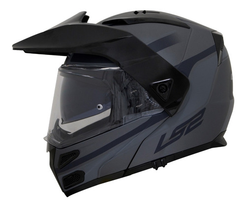 capacete ls2 articulado metro evo ff324 era titânio fosco