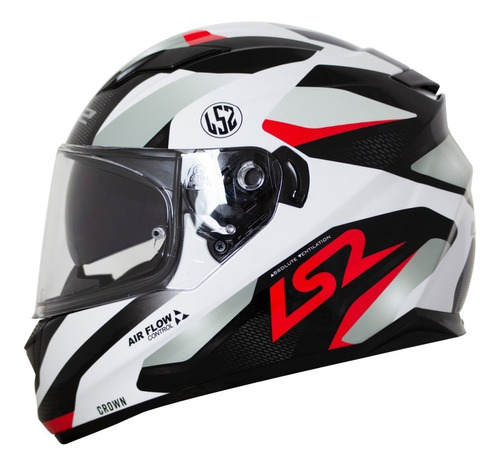 capacete ls2 ff320 stream crown vermelho lançamento