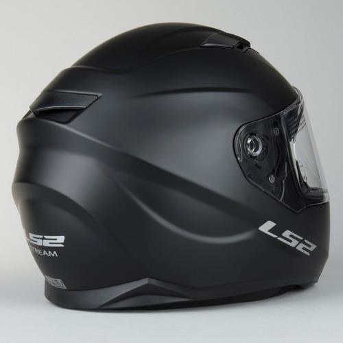 capacete ls2 ff320 stream preto fosco com viseira solar