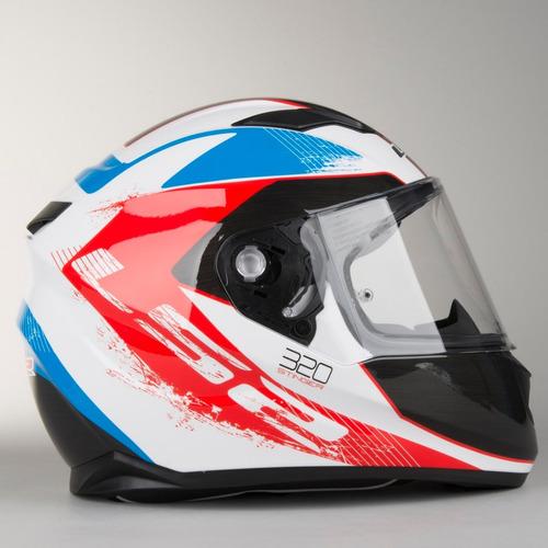 capacete ls2 ff320 stream stinger tricolor com viseira solar
