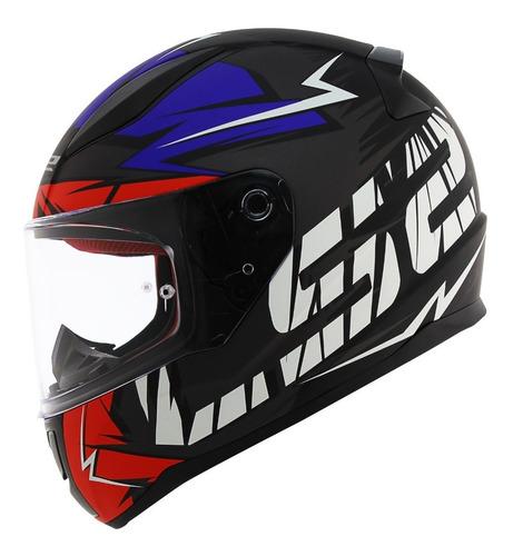 capacete ls2 ff353 rapid cromo tricolor fosco