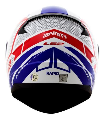 capacete ls2 ff353 rapid infinity tricolor