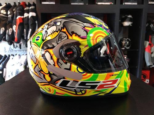 capacete ls2 ff358 alex barros - 4 estrelas sharp