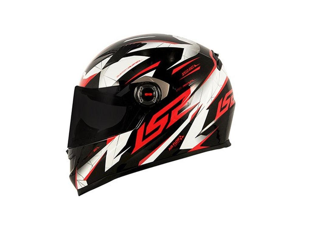 capacete ls2 ff358 draze preto branco vermelho. Carregando zoom. e3a8499cf88