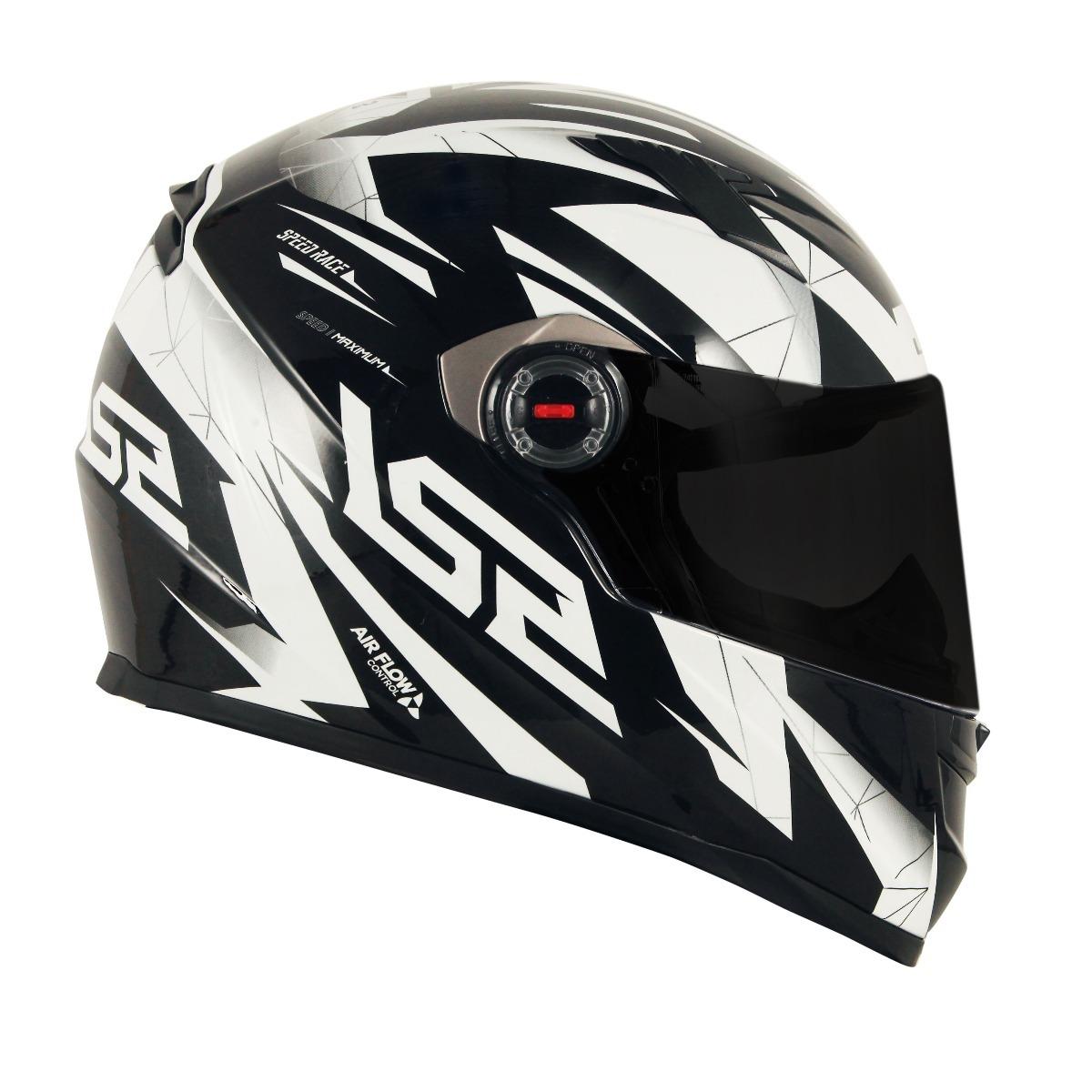capacete ls2 ff358 draze preto branco. Carregando zoom. 38f2c510396