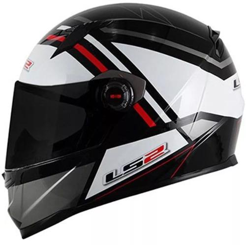 capacete ls2 ff358 mohican branco cinza preto