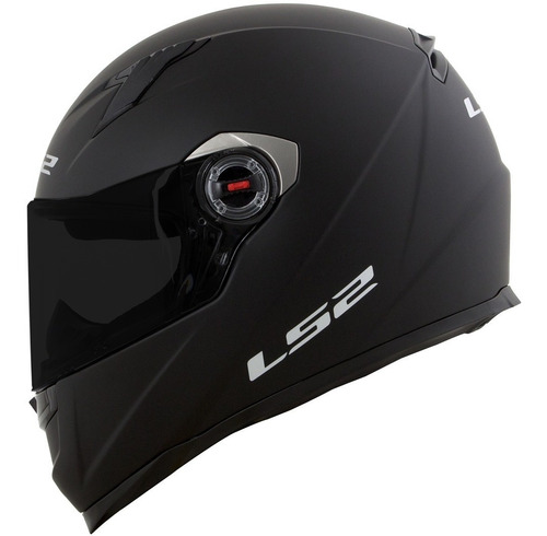 capacete ls2 ff358  monocolor preto fosco
