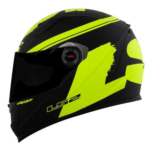 capacete ls2 ff358 preto fosco para moto
