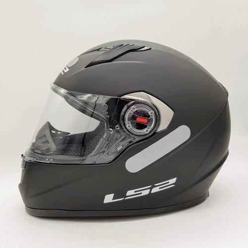 capacete ls2 ff358 preto fosco - sharp 4 estrelas