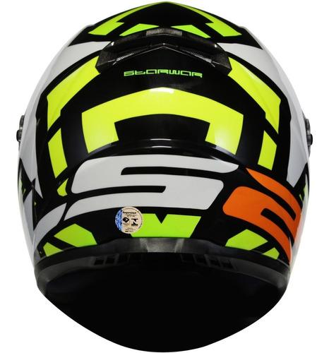 capacete ls2 ff358 starwar amarelo fluo sharp 4 estrelas