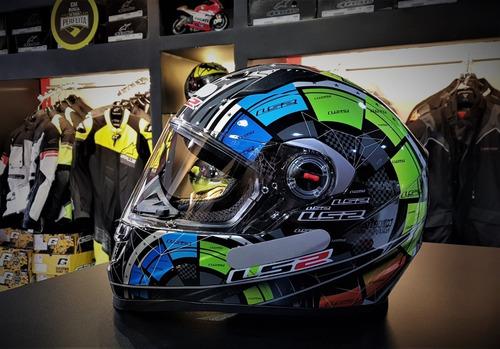capacete ls2 ff358  tech - 4 estrelas sharp
