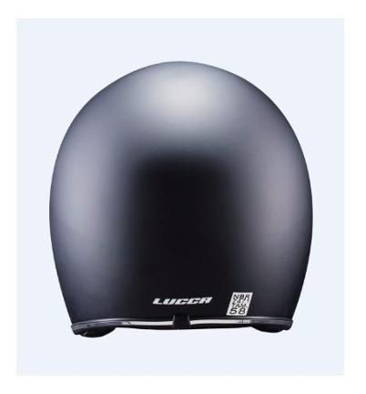 capacete lucca custom old school matt black - full