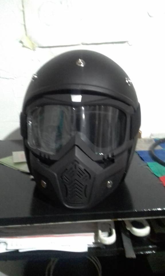 capacete + mascara oldschool caferacer chopper bobber old. Carregando zoom. 57a7a1ae95