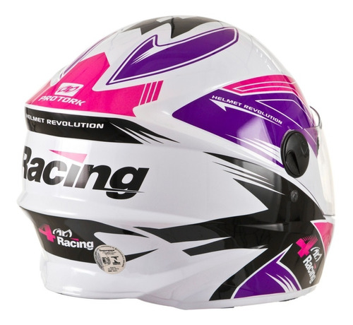 capacete masculino 4 racing pink lilás pro tork