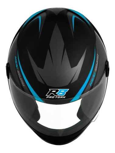 capacete masculino azul claro r8 pro tork
