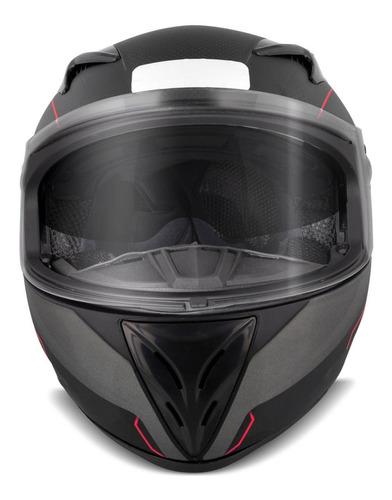 capacete masculino ebf xtroy x10 preto fosco e vermelho