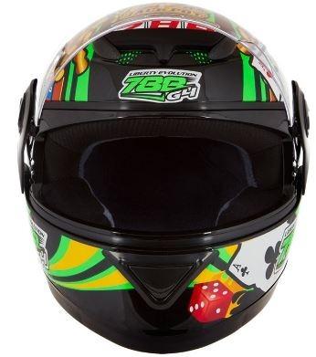 capacete masculino preto grafismo las vegas tamanho 58 60