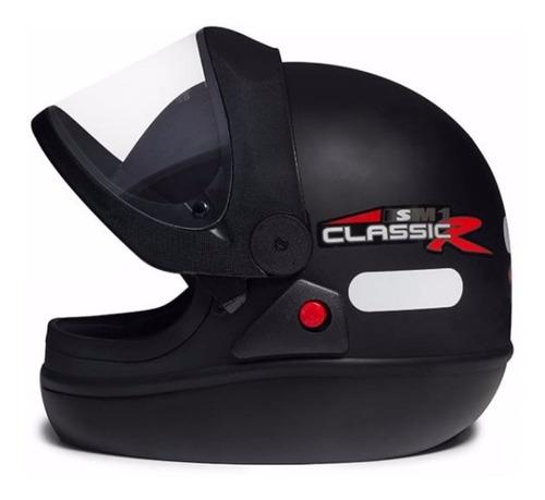 capacete masculino san marino classic preto fosco