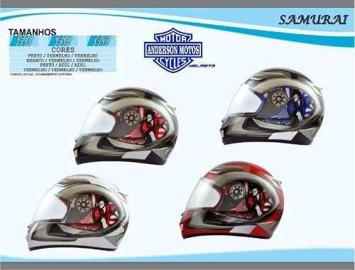 capacete men's tamanho 56 - samurai