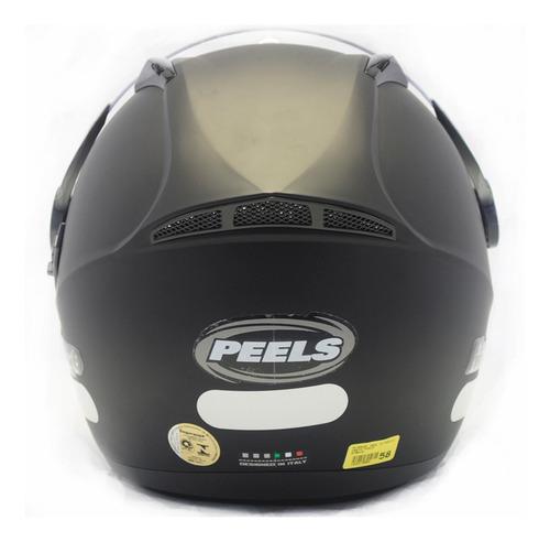 capacete mirage peels óculos interno preto fosco f21