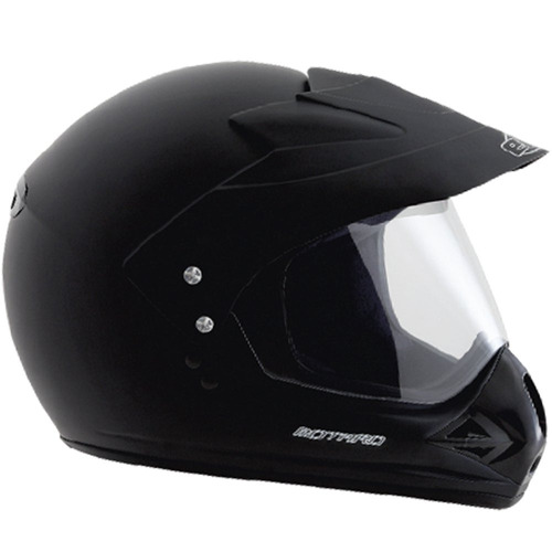capacete motard cross ebf 58 casco alto impacto preto fosco