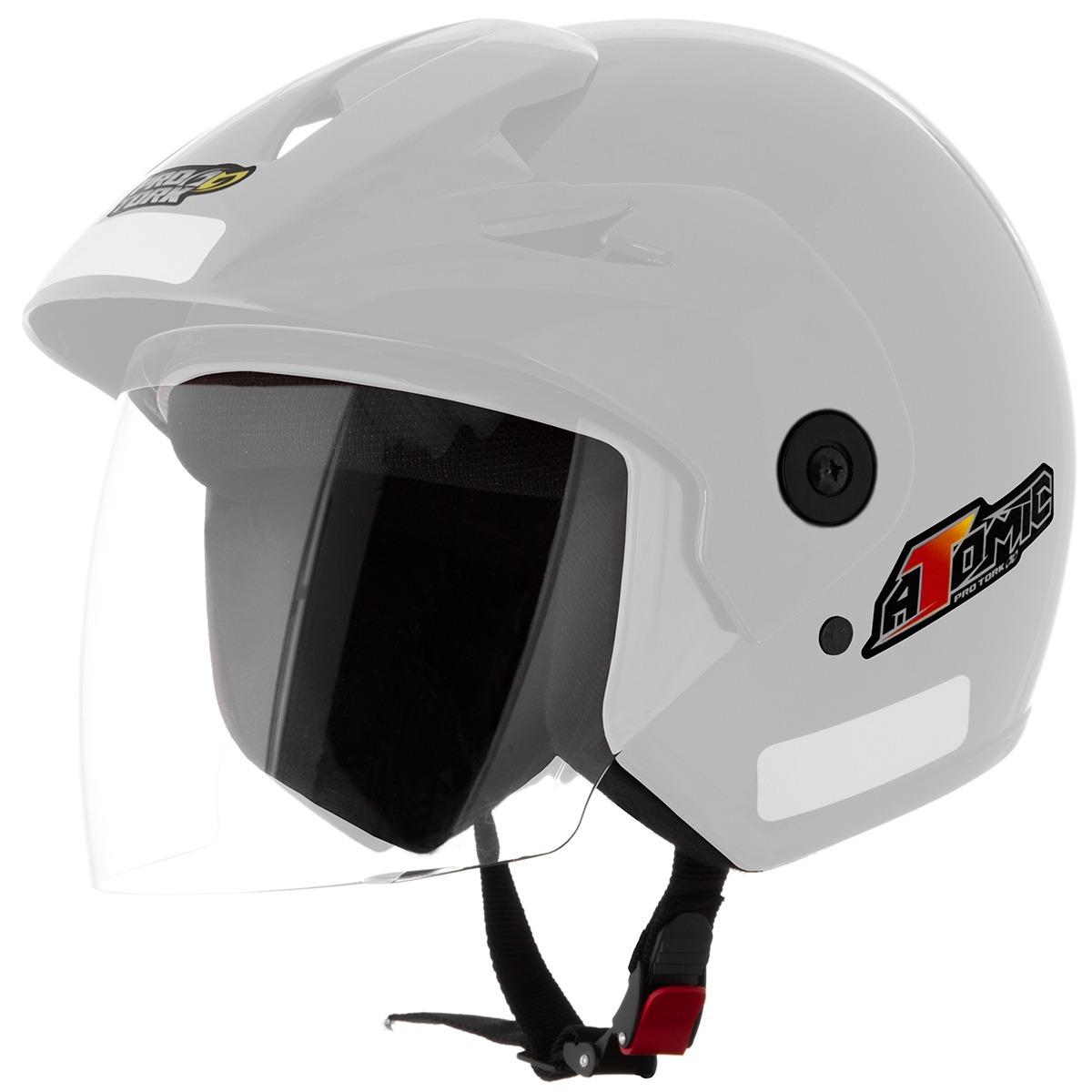 Capacete Moto Aberto Com Viseira Pro Tork Atomic - R  124 00776f26769