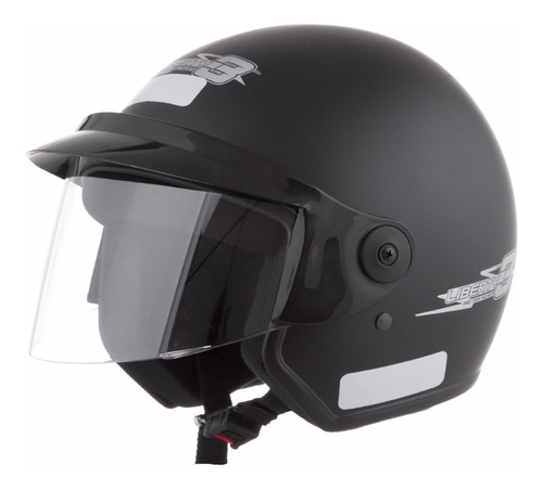 capacete moto aberto pro tork liberty three preto fosco