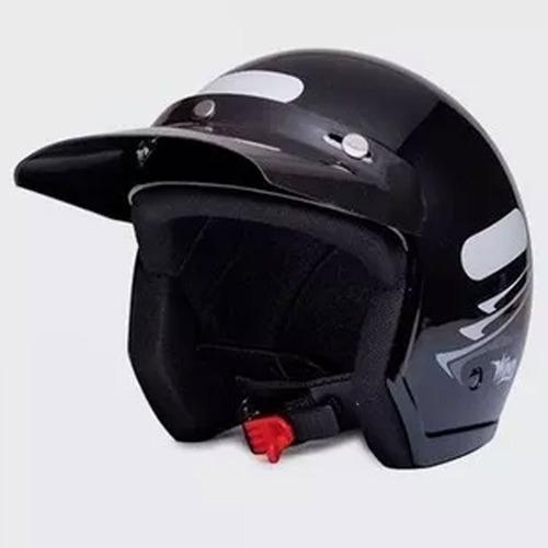 capacete moto aberto wind v2 speed lines preto tamanho 58