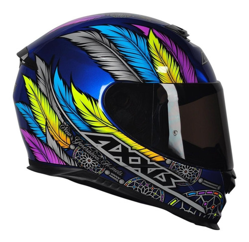 capacete moto axxis by mt eagle dreams brilhante