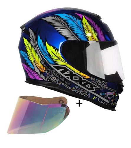 capacete moto axxis dreams + viseira camaleão