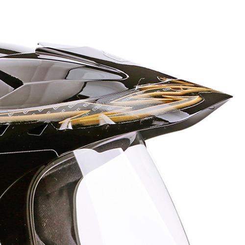capacete moto ebf 60 fechado motard street cross cor dourado
