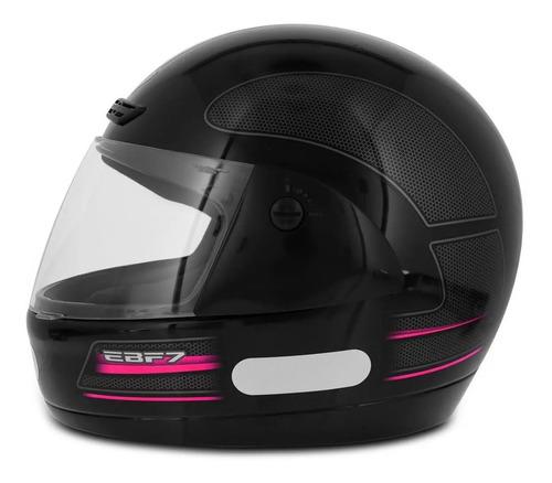 capacete moto ebf 7 carbon gt preto solid várias cores + nf