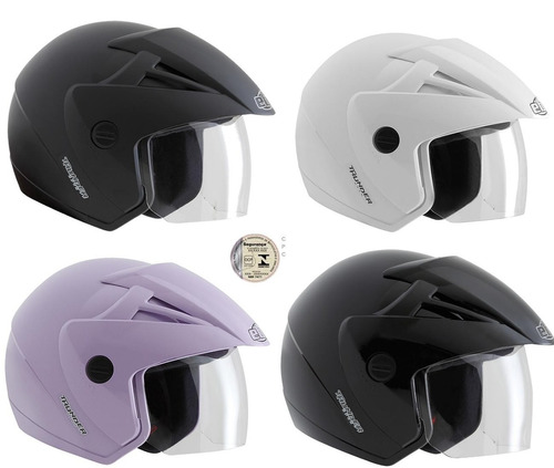 capacete moto ebf aberto