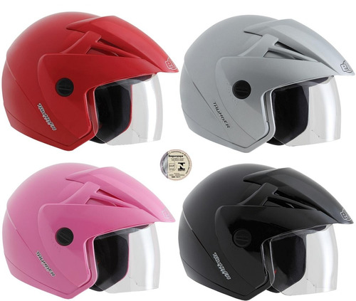capacete moto ebf aberto thunder open várias cores promoção