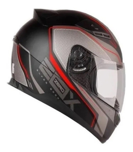 capacete moto ebf e0x super sport spectro c/ narigueira + nf